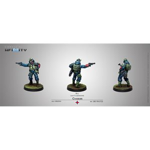 Infinity: Ariadna - Blister Pack - Chasseurs - Rifle / Flamethrower (1) - RS