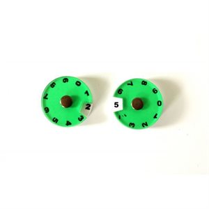 Tokens: 2 Simple Dials - Green