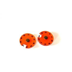 Tokens: 2 Simple Dials - Orange