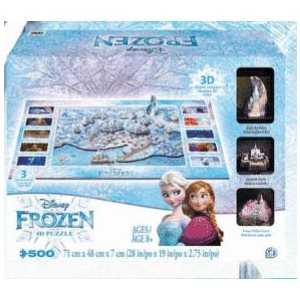 4D Puzzle: Disney Frozen Puzzle of Arendelle (500 Pieces)