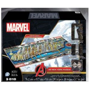 4D Puzzle: Marvel New York (818 Pieces)