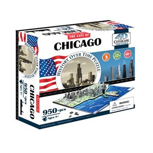 4D Cityscape: Chicago, USA (953 Pieces)