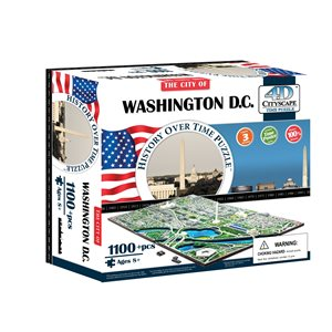 4D Cityscape: Washington DC, USA (1194 Pieces)