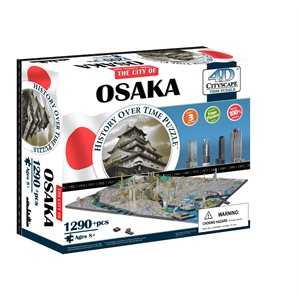 4D Cityscape: Osaka, Japan (1290 Pieces)