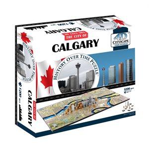4D Cityscape: Calgary, Canada (1220 Pieces)
