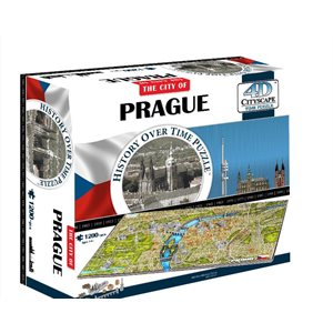 4D Cityscape: Prague, Czech Rep (1287 Pieces)