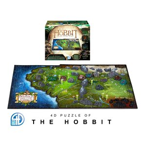 4D Puzzle: The Hobbit: Middle-Earth (1390 Pieces)