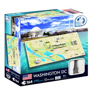 4D Cityscape: Mini Washington D.C. (164 Pieces)