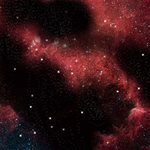 Playmat: Planet / Crimson Gas Cloud 3' x 3' (Double Sided)