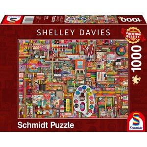 Puzzle: 1000: Shelley Davies: Vintage Artist's Materials ^ Q2 2021