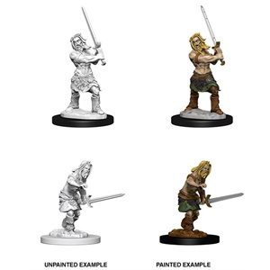 Pathfinder Deep Cuts Unpainted Miniatures: Wave 6: Human Male Barbarian