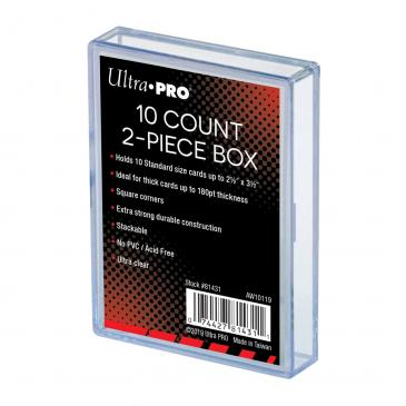 Ultra Pro: 2 Piece Clear Card Storage Box (10ct)