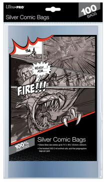 Comic Bags: Silver Size (100)