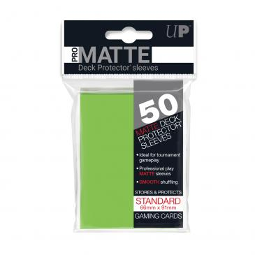 Sleeves: Pro-Matte Lime Green Standard Deck Protectors (50ct)