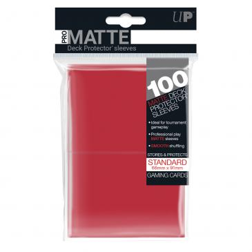 Sleeves: Pro-Matte Red Standard Deck Protectors (100ct)