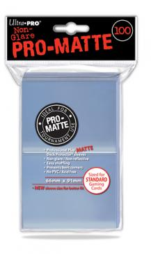 Sleeves: Pro-Matte Clear Standard Deck Protectors (100ct)