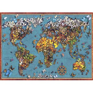 Puzzle: 1000 Butterfly World Map