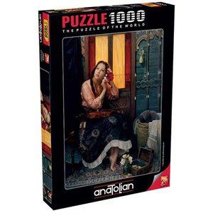 Puzzle: 1000 Crimson Rose