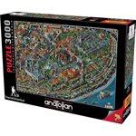 Puzzle: 3000 Fractal Istanbul