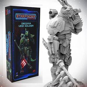 Starfinder Unpainted Miniatures: Obozaya, Vesk Soldier ^ APR 2021