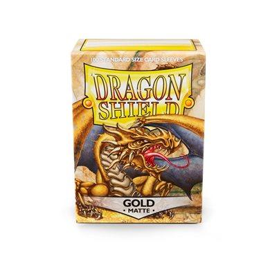 Sleeves: Dragon Shield Matte Gold (100)