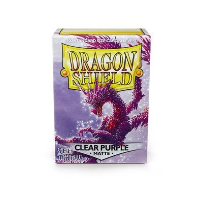 Sleeves: Dragon Shield Matte Clear Purple(100)