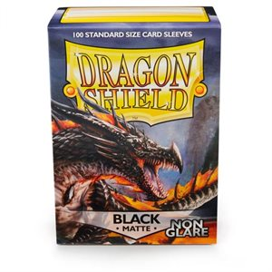 Sleeves: Dragon Shield Matte Black NonGlare (100)