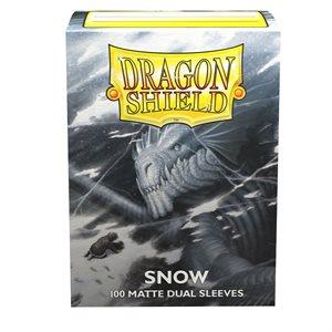 Sleeves: Dragon Shield Matte DUAL Snow (100) (White)