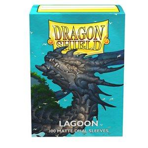 Sleeves: Dragon Shield Matte DUAL Lagoon (100) (Blue)