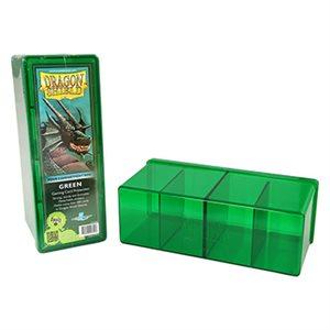 Dragon Shield Storage Box: 4 Compartments Green