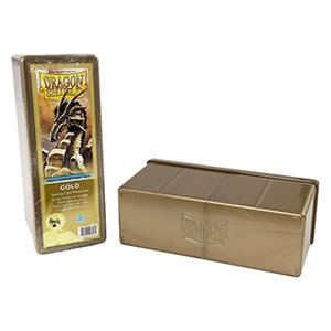 Dragon Shield Storage Box: 4 Compartments Gold
