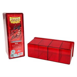 Dragon Shield Storage Box: 4 Compartments Red