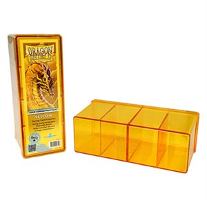 Dragon Shield Storage Box: 4 Compartments Yellow
