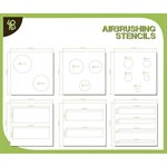 Airbrush Stencils Circles and Strips 1