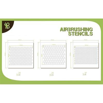 Airbrush Stencils Triangles Pattern 1