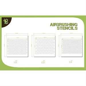 Airbrush Stencils Triangles Pattern 1