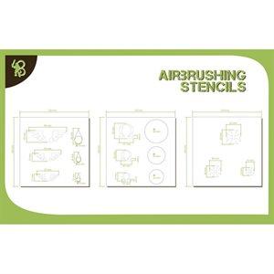 Airbrush Stencils Symbols: Templars, Omega, Angel