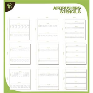 Airbrush Stencil Pack: Arrows & Stripes