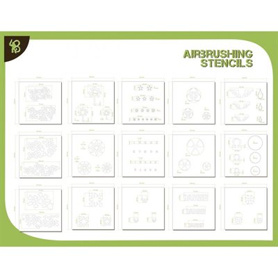 Airbrush Stencil Pack: Shapes & Various