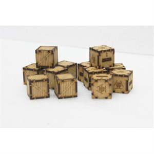 Chemical And Wooden Containers (12) (Unpainted / Unassembled)