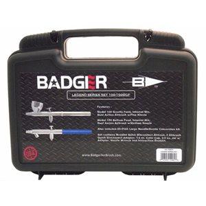 Badger: Airbrush Kit: Legend Series: 100LG Fine Nozzle and 150 Medium Nozzle