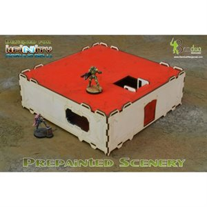 Infinity Modular Building Prepainted White & Red