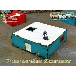 Infinity Modular Building Prepainted Turquoise & White