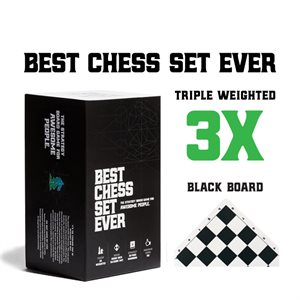 Best Chess Set Ever (Black and Green Reversible) (No Amazon Sales)