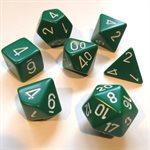 Opaque: 7Pc Green / White
