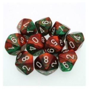 Gemini: 10D10 Green-Red / White