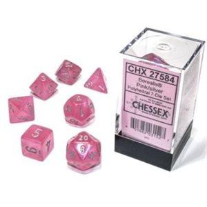 Borealis: 7Pc Pink / Silver Luminary ^ NOV 20 2020
