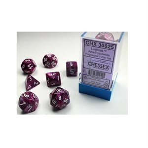 Lab Dice Lustrous: 7pc Limited Edition Amethyst / White