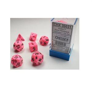 Lab Dice Vortex: 7pc Limited Edition Snow Pink / Black