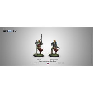 Infinity: Ariadna - Blister Pack - 3rd Highlander Grey Rifles - HMG (1)